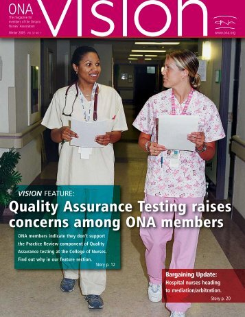 ONA Members - Ontario Nurses' Association