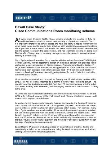 Cisco Case study - IP UserGroup