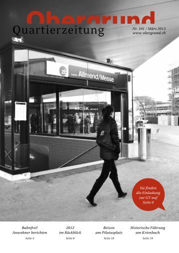 Quartierzeitung, Nr. 101-2012 - Obergrund