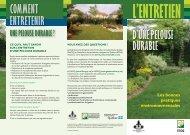une pelouse durable - Fédération interdisciplinaire de l'horticulture ...