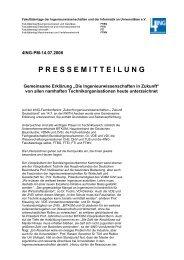 """Gemeinsame Erklärung """"Die Ingenieurwissenschaften in ... - 4Ing"""