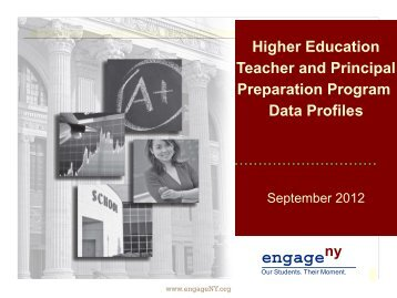 PowerPoint: Teacher and Principal Preparation Program Data Profiles