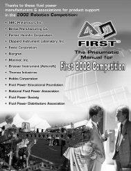 2002 FIRST Pneumatics Manual