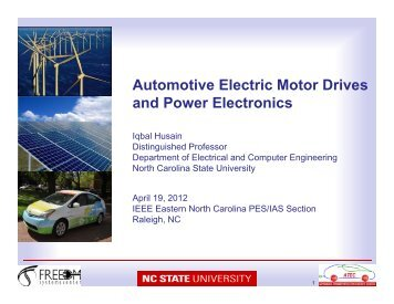 Automotive Electric Motor Drives and Power Electronics, 19 April 2012