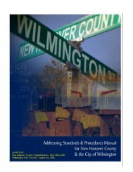Addressing Standards and Procedures Manual - City of Wilmington