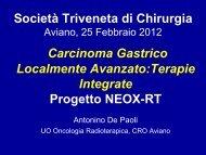 Gastric Cancer - Società Triveneta di Chirurgia
