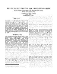 Explicit Segmentation of Speech using Gaussian Models - Signal ...