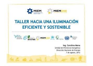 DNE - Taller Iluminación Eficiente 6.8.2012 - Centro Coordinador de ...