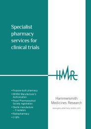 Specialist pharmacy services for clinical trials - GMP Pharmacy