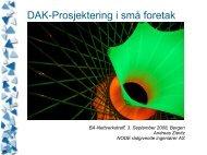 DAK-prosjektering i små foretak - BA-Nettverket