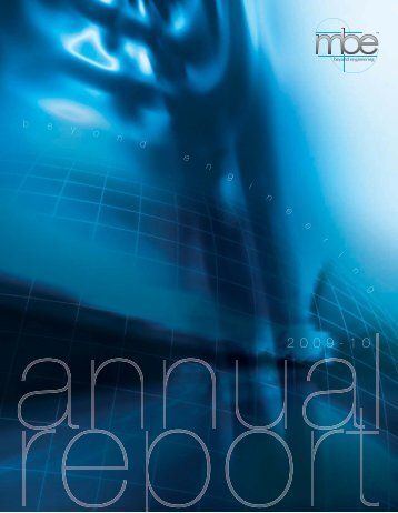 Annual Report 2009-10 - McNally Bharat Engineering Company ...