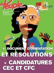 Le supplément au Peuple n° 1688 avec Liste des candidatures