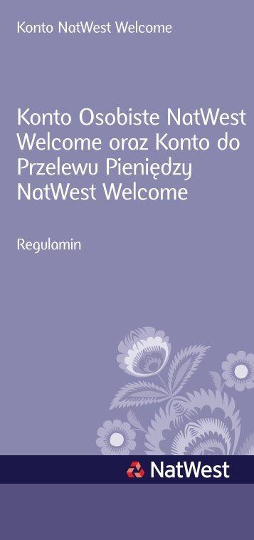 Konto Osobiste NatWest Welcome oraz Konto do Przelewu ...