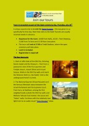 Tours in Jerusalem as part of the Open ceremony day ... - Maccabiah