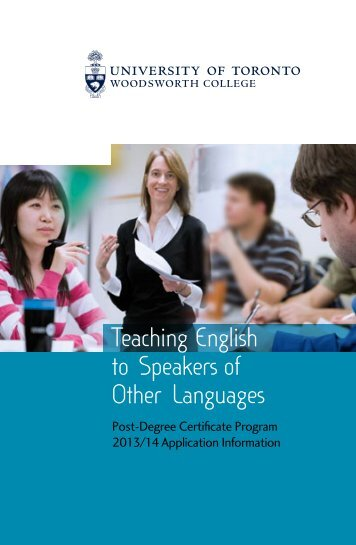 2013-14 TESOL Information/Application Booklet - Woodsworth ...