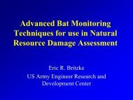 Advanced Bat Monitoring Techniques for use in Natural Resource ...
