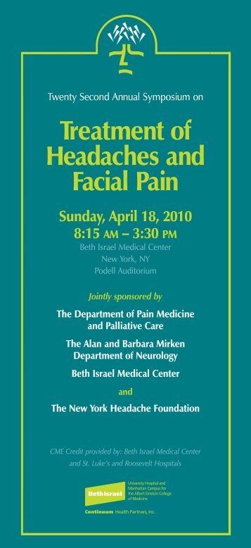 conference brochure - Department of Pain Medicine and Palliative ...