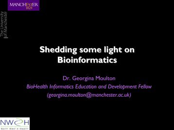 Introduction to bioinformatics - National Genetics Reference ...