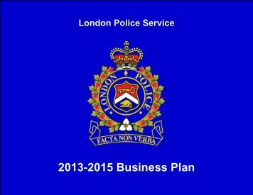 2013-2015 Business Plan - London Police Service - City of London