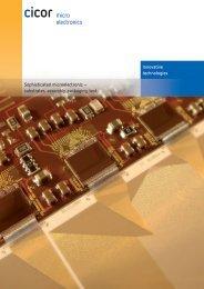 ME Brochure - Cicor Technologies