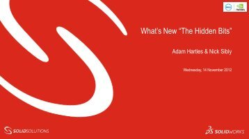 """What's New """"The Hidden Bits"""" - Solid Solutions"""