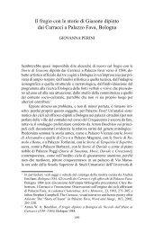 Il fregio con le storie di Giasone dipinto dai Carracci a Palazzo Fava ...