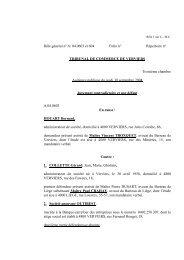 jugement HOUART Bernard c/ COLLETTE Gerard - Juridat