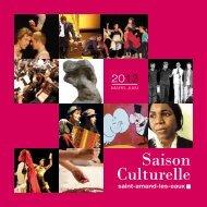Saison culturelle 2013 - Saint Amand les Eaux
