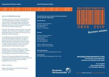 Marburg - Deutsche Hirntumorhilfe eV