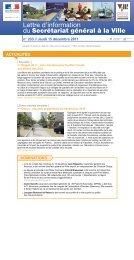 Lettre d'information - Délégation interministérielle à la ville
