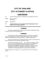 Legal Requirements and Legal Status Report Regarding the City of ...