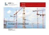 Grundlagen für nachhaltiges Bauen - SVKG