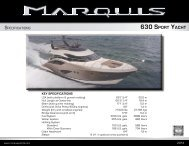 630 SPORT YACHT - Marquis Yachts