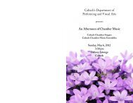 May 6, 2012 - Caltech Performing and Visual Arts