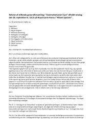 Referat af stiftende generalforsamling i - Fyens Væddeløbsbane