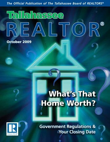 What's That Home Worth? - Tallahassee Board of Realtors