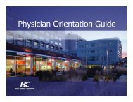 Physician Orientation Guide - Holy Cross Hospital