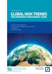 Euromoney: Global Risk Trends - GTB - Deutsche Bank