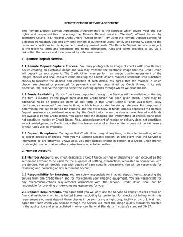 bank deposit contract This bank services agreement (agreement), contains the terms and conditions that govern the relationship between  balance requirements for each deposit.