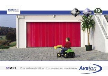Porte sectionnelle latérale Portoni sezionali a ... - Fauthelec