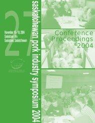 Conference Proceedings 2004 - SaskPork