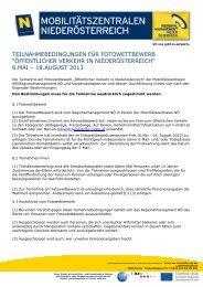 Teilnahmebedingungen Fotowettbewerb OEV in NOE ... - Waldviertel