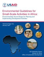 Environmental Guidelines for Small-Scale Activities in Africa: