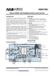 WM8758B, Rev 4.4 - Wolfson Microelectronics plc