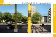 Qualité et sûreté des espaces urbains - Ministère du ...