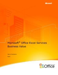Microsoft Office Excel Services Business Value - Gig Werks