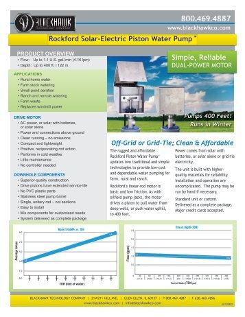Rockford Solar Powered Pump (Electric, Water) [PDF] - Blackhawk ...
