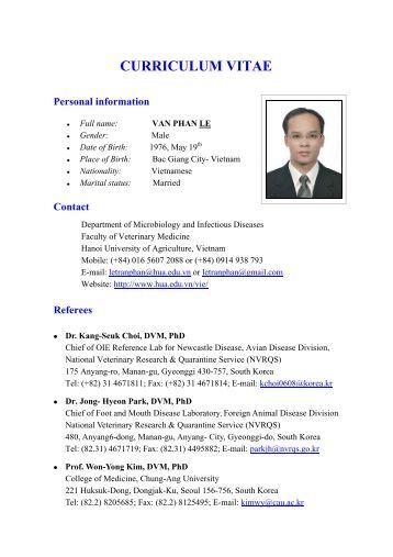 curriculum vitae information technology