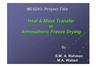Heat & Mass Transfer in Atmospheric Freeze Drying