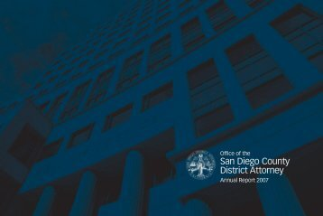 Annual Report 2007 - San Diego County District Attorney